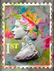 First Class Queen by Dan Pearce - Limited Edition Embellished Paper sized 26x34 inches. Available from Whitewall Galleries