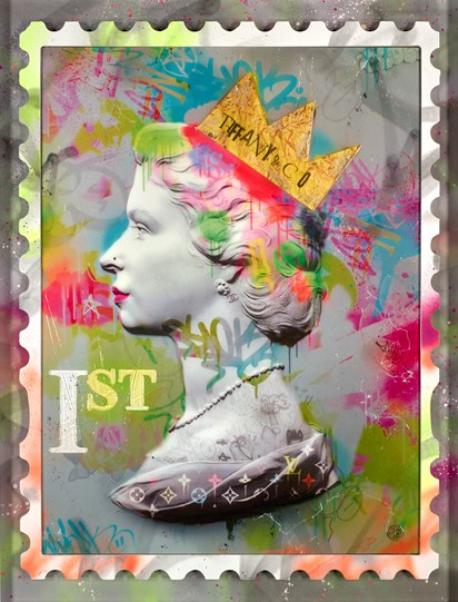 First Class Queen by Dan Pearce - Limited Edition Embellished Paper